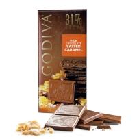 GODIVA  歌蒂梵 31% 咸焦糖牛奶巧克力直板排块 100g