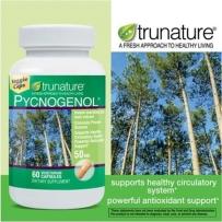 美直邮trunature Pycnogenol 天然碧萝芷素食胶囊50mg 60粒抗氧化