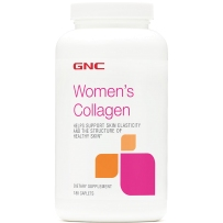 GNC女士胶原蛋白片水解胶原+玻尿酸+维C 180片 新旧包装随机发