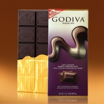 GODIVA  歌蒂梵 72%黑巧克力直板排块 90g