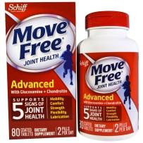 美国Schiff Move Free关节保健系列 三倍氨糖维骨力80粒 保护关节