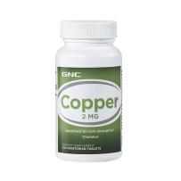 GNC健安喜萄糖酸铜补铁补充微量元素2mg100片提高免疫力