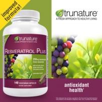 TruNature® Resveratrol  白藜芦醇软胶囊 250mg  140粒 加强版 养颜美容抗衰