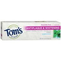 Tom's of Maine 全天然抗牙斑牙垢美白无氟牙膏 薄荷口味