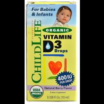 Childlife 童年时光 有机儿童维生素D3滴剂  10ml  天然莓果味