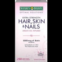 Nature's Bounty 自然之宝头发皮肤指甲强效配方(含阿甘油), 250粒胶囊